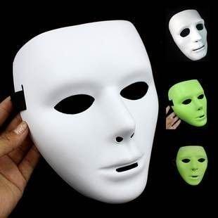=優生活=超夯鬼步舞面具 街舞面具 白色面具 螢光面具 無臉面具 白色派對