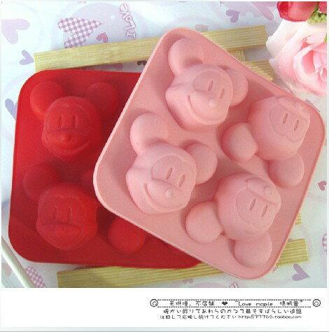 =優生活=迪士尼 米奇 米老鼠矽膠蛋糕模 手工皂模 布丁模 冰格 皂模 冰杯果凍布丁模具