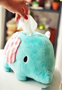 =優生活=日本原單憂傷馬戲團大象面紙套 薄荷象面紙套 紙巾套 娃娃