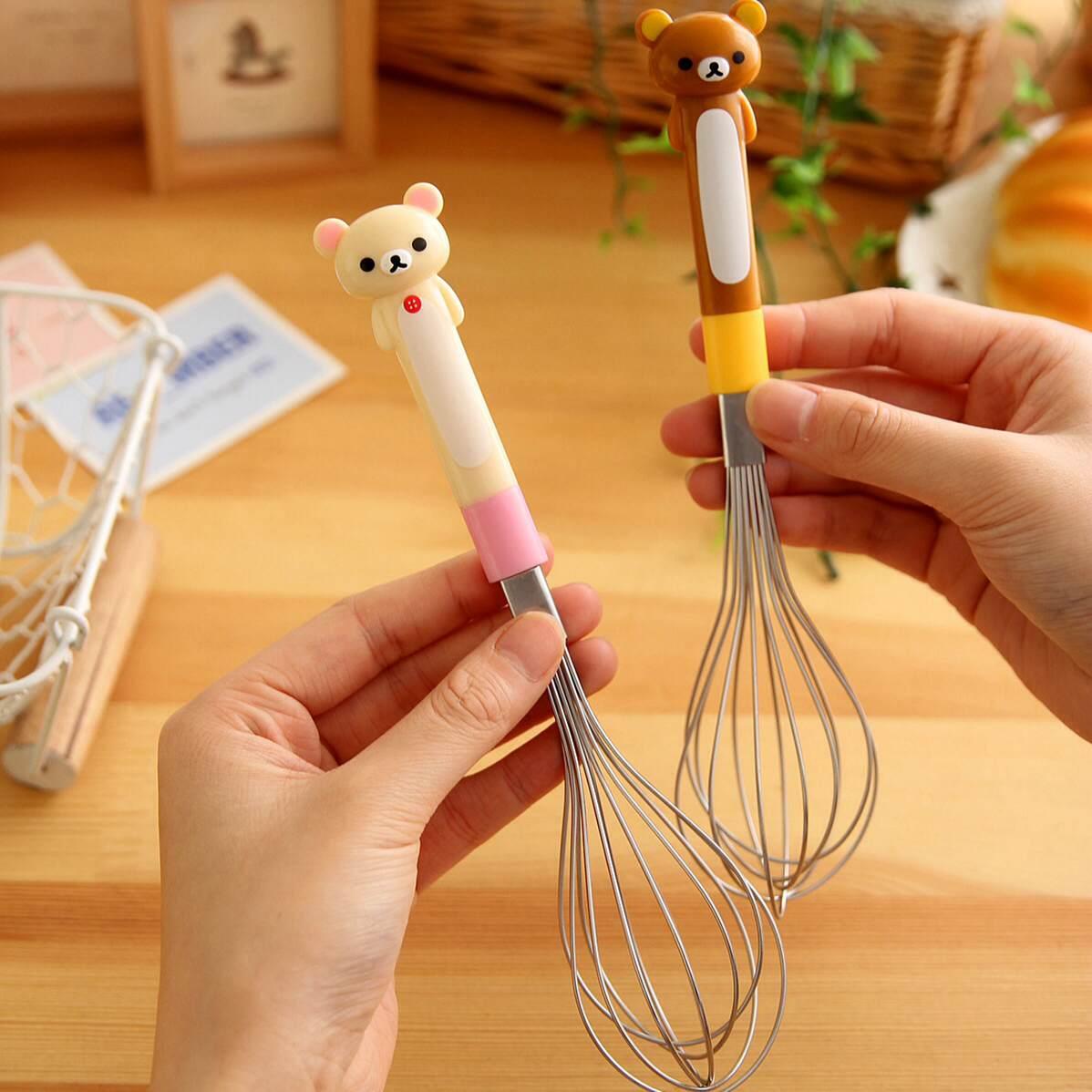 =優生活=日本 Rilakkuma 懶懶熊 拉拉熊 打蛋器 攪拌器 手動迷你打蛋器 廚房小工具