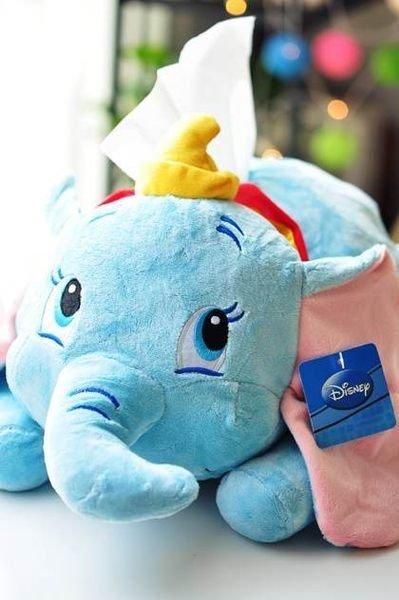 =優生活=迪士尼 正版 卡通 小飛象 大象 絨毛 面紙套 面紙盒 收納 現貨