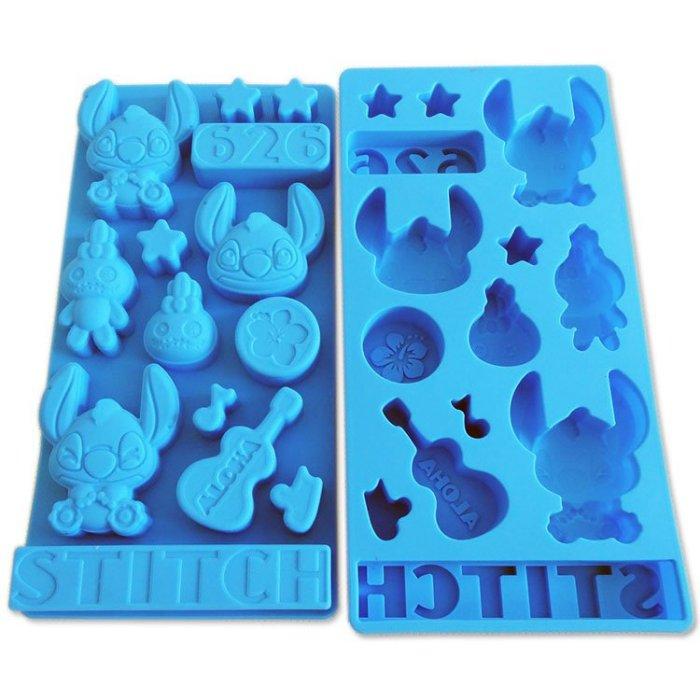 =優生活=迪士尼星際寶貝 史迪奇食品級矽膠 巧克力蛋糕模 手工皂 果凍布丁模 卡通冰格 製冰模具 DIY模具 可愛冰格 小