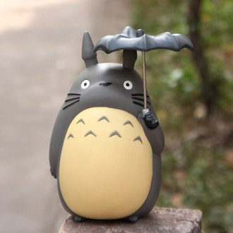=優生活=日本Nibariki限定宮崎駿龍貓Totoro特大號撐傘龍貓存錢筒 巴士存錢筒21公分 公仔 玩具 人偶擺飾