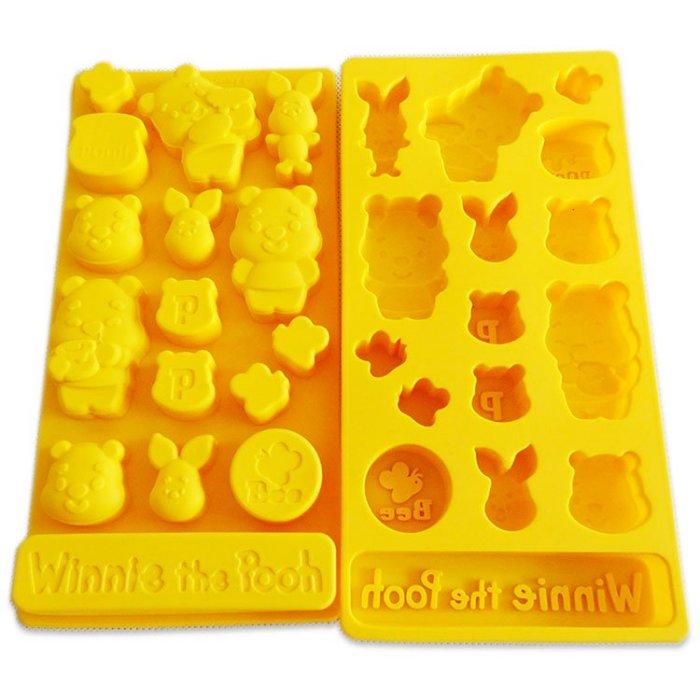 =優生活=迪士尼維尼 小豬 POOH食品級矽膠 巧克力蛋糕模 手工皂 果凍布丁模 卡通冰格 製冰模具 DIY模具 可愛冰格 小