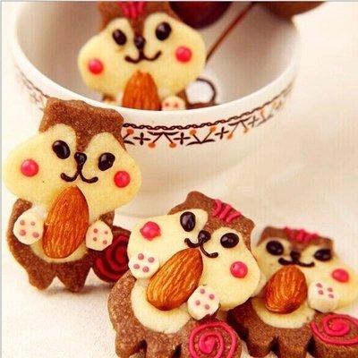 =優生活=超可愛 3D不鏽鋼 松鼠抱果餅乾4件組 餅乾不鏽鋼餅乾模 翻糖餅乾 飯團模具 收延餅乾模具