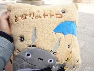 =優生活=宮崎駿龍貓抱枕 枕頭 午休枕 龍貓娃娃 方形小顆