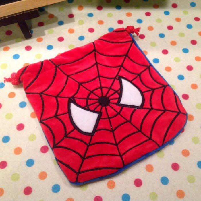 =優 =蜘蛛人刺繡束口袋 Spiderman 蜘蛛俠 相機包 零錢包 收納袋 手機袋