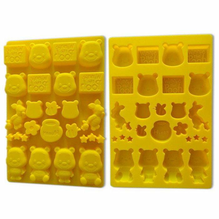 =優生活=迪士尼維尼 小豬 POOH食品級矽膠 巧克力蛋糕模 手工皂 果凍布丁模 卡通冰格 製冰模具 DIY模具 可愛冰格 大
