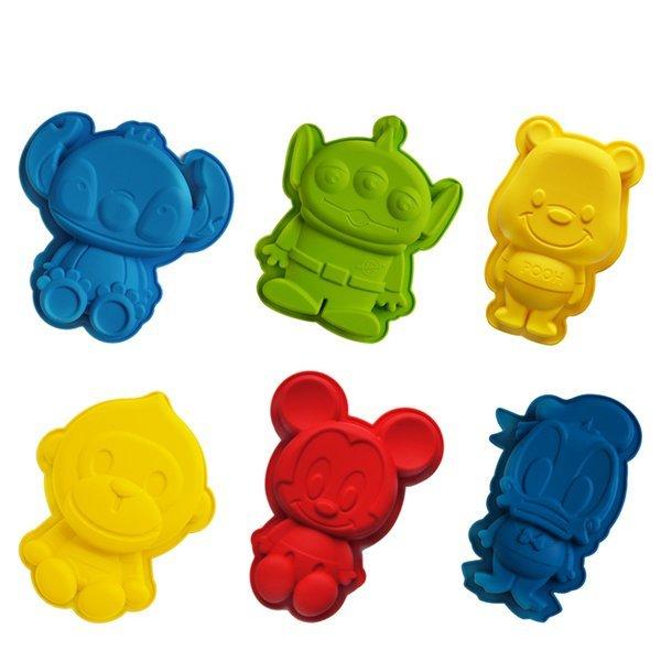 =優 =迪士尼米奇維尼三眼怪史迪奇唐老鴨猴子 蛋糕模 食用級矽膠模具 果凍模 巧克力模型