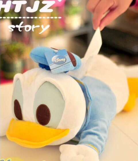 =優生活=唐老鴨 絨毛立體造型面紙套 迪士尼 duck 面紙盒 娃娃 抱枕