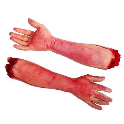 =優生活=整人玩具鬼怪成人斷手臂 仿真乳膠斷臂手 恐怖斷手道具 萬聖節整人 萬聖節道具