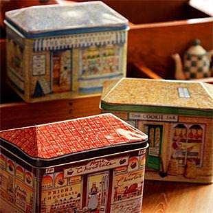 =優生活=韓國雜貨 zakka雜貨 糖果屋 麵包店收納鐵盒 歐式立體小房屋鐵盒 收納罐 馬口鐵盒 糖果罐