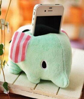 =優生活=憂傷馬戲團 薄荷象 可愛大象手機座 筆筒 遙控座 收納筒