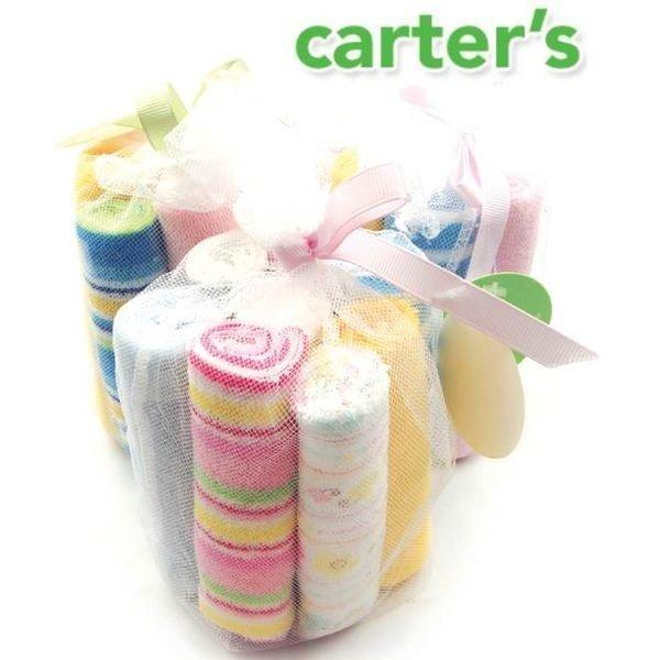 =優生活=美國Carter''s 精美可愛小方巾 口水巾 餵奶巾 小手帕 新生兒禮物 超值組8入裝
