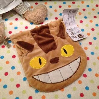 =優生活=宮崎駿正版授權 卡通束口袋 龍貓公車 拍立得收納包 相機包 化妝包