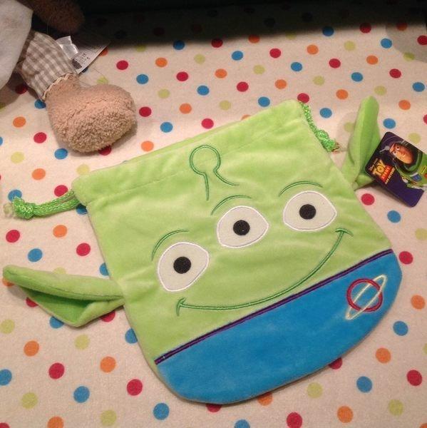 =優生活=迪士尼Pixar 玩具總動員Toy Story三眼怪 收納袋 束口袋 化妝包 拍立得相機包