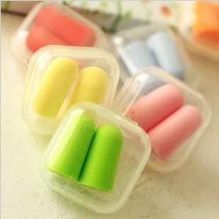 =優生活=可愛糖果色 盒裝隔音降噪耳塞 防噪耳塞 睡眠耳塞 旅行防噪耳塞(一對裝)