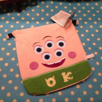 =優生活=迪士尼Disney怪獸電力公司 怪獸大學 史乖寶 束口袋 化妝包 收納袋 衛生棉包 相機包