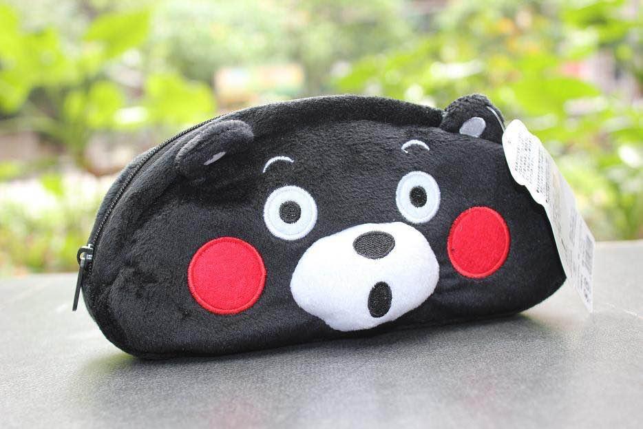 =優生活=日本 熊本縣吉祥物 kumamon毛絨筆袋 錢包 收納包 化妝包