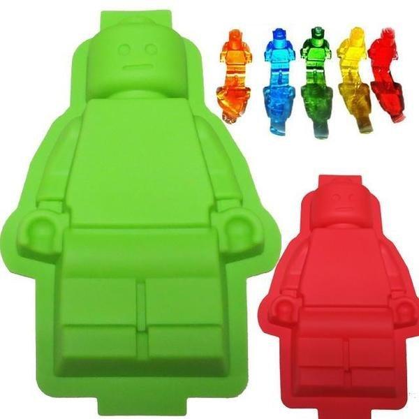 =優生活=食用級矽膠樂高機器人 人偶冰格大號 製冰盒 麵包蛋糕模型 烤箱烘焙模具 果凍模具 布丁模具 LEGO模型