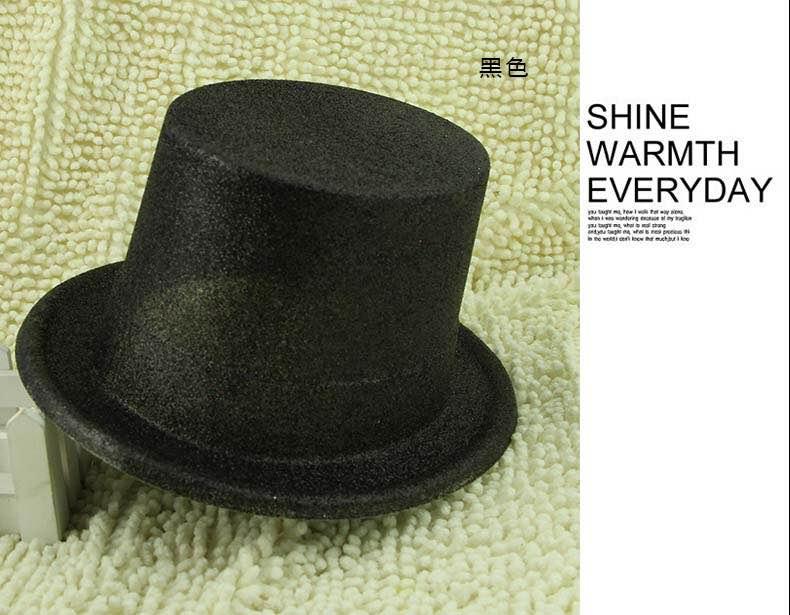 =優 =萬聖節道具 爵士帽 林肯帽 魔術帽 金粉高帽 金蔥高帽 尾牙 聖誕節 帽子道具