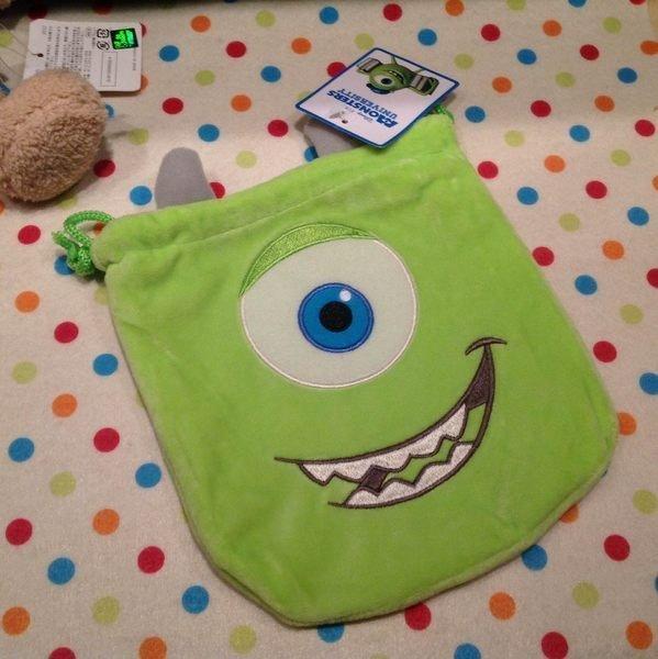 =優生活=怪獸電力公司 大眼仔 迪士尼 玩具總動員 怪獸大學化妝包 收納包 拍得立相機包 束口袋