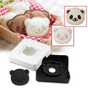 =優生活=日本 arnest熊貓三明治 吐司製作器 吐司模具 口袋麵包 親子DIY 廚房DIY