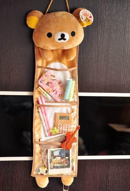 =優生活=Rilakkuma 拉拉熊 懶懶熊 家居收納袋 三層收納掛袋 整裡掛袋