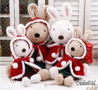 送家人聖誕交換禮物推薦聖誕娃娃到=優生活=日本正品 le sucre 砂糖兔 法國兔娃娃 滿月禮物 結婚禮物 情人節禮物 聖誕裝款 45公分就在優生活創意賣場推薦送家人聖誕交換禮物