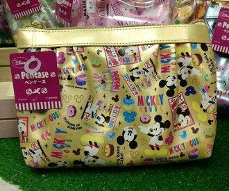 =優生活=日本進口 迪士尼系列 米奇亮面化妝包 收納包 筆袋