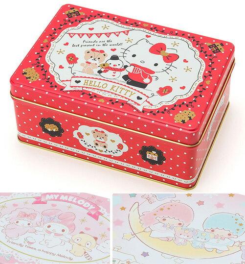 kitty美樂蒂雙子星餅乾鐵盒禮物盒收納盒聖誕禮品系列雙144565美144534海度