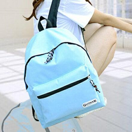 後背包 簡約系糖果色字母小LOGO後背包 學生書包 包飾衣院 P1391