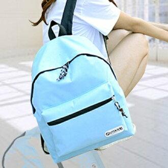 後背包 簡約系糖果色字母小LOGO後背包 學生書包 包飾衣院 P1391 現貨(附發票)