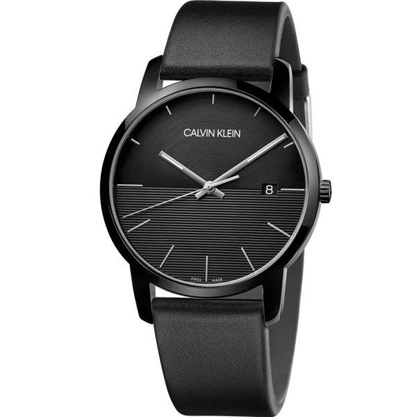 Calvinklein卡文克萊都會系列(K2G2G4C1)簡約時尚大方腕錶銀黑42mm