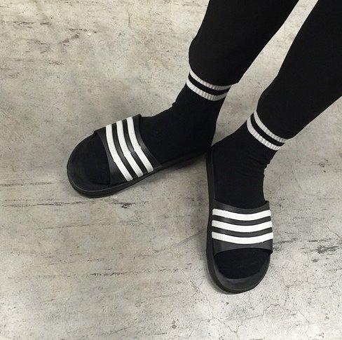 【JP.美日韓】增高 厚底 拖鞋 懶人拖 涼鞋 非nike 愛迪達拖鞋 運動品牌拖鞋 Y3 SQUAD