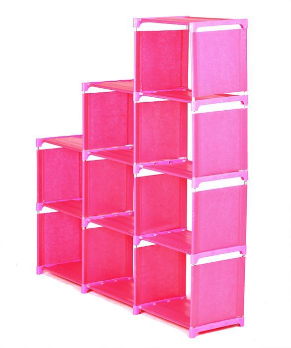 Adjustable Bookcase Storage Bookshelf with 9 Book Shelves 3