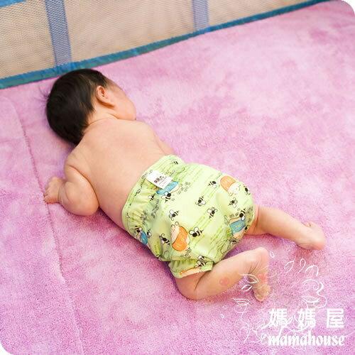 《樂樂環保布尿布兜.釦子款.單一尺寸尿褲兜.J013小蜜蜂》  台灣製.NB~XL.從小穿到大