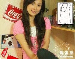 h0701公主袖包臀哺乳衣.亮麗粉紅》  台灣製.舒適優雅甜美加分