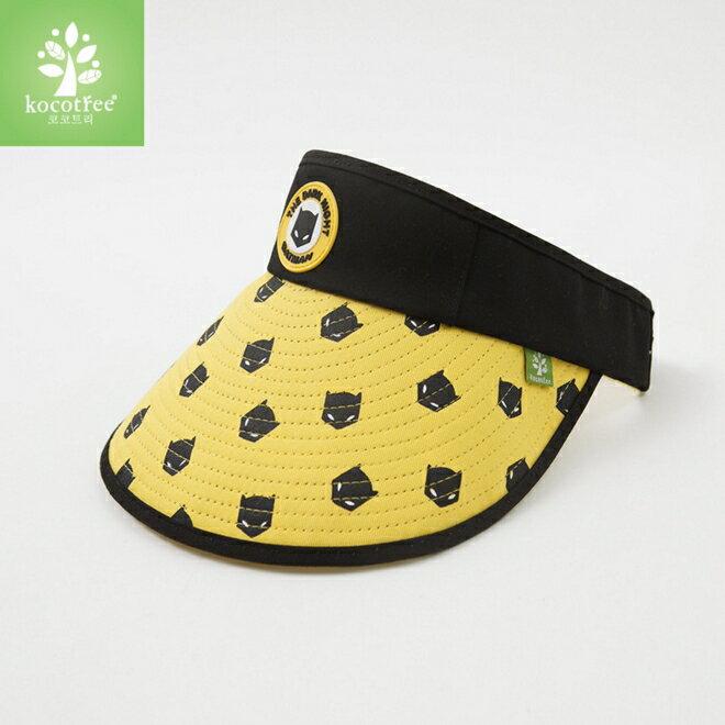 Kocotree◆時尚可愛卡通蝙蝠俠兒童親子款防曬透氣空頂遮陽帽-黑色