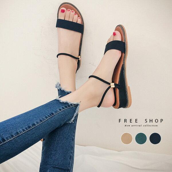 FreeShop戶外時尚百搭款平底羅馬鞋加厚底鞋設計韓國最新兩穿涼鞋波西米亞風涼鞋【QCAQ71001】