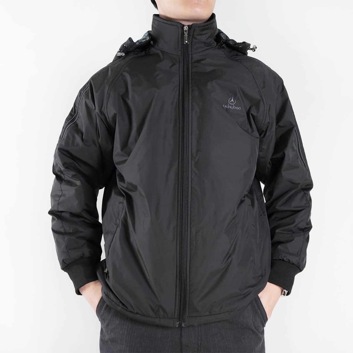 內舖絨布保暖風衣外套 保暖外套 騎士外套 夾克外套 防風外套 黑色外套 FLANNEL LINED WINDBREAKER JACKETS (312-6077-21)黑色 L XL 2L(胸圍46~51英吋) [實體店面保障] sun-e 3