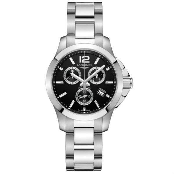 LONGINES浪琴表L33794566深海征服者潛水計時機械腕錶黑面36mm