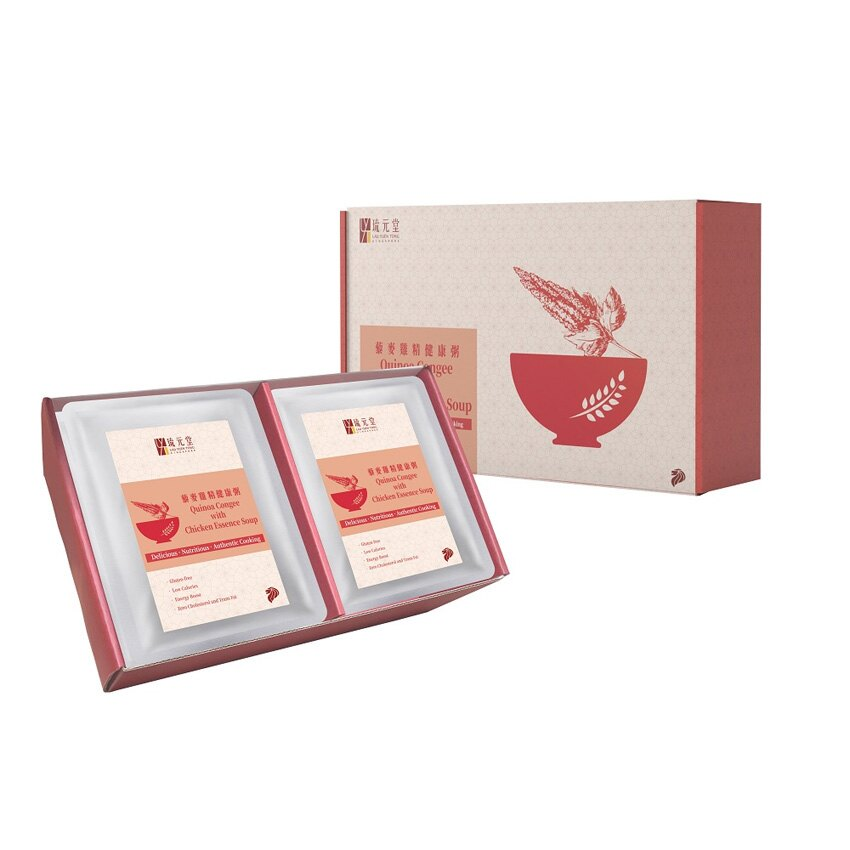 【免運】新加坡 琉元堂 藜麥雞精健康粥9入禮盒 (300g/包×9入)
