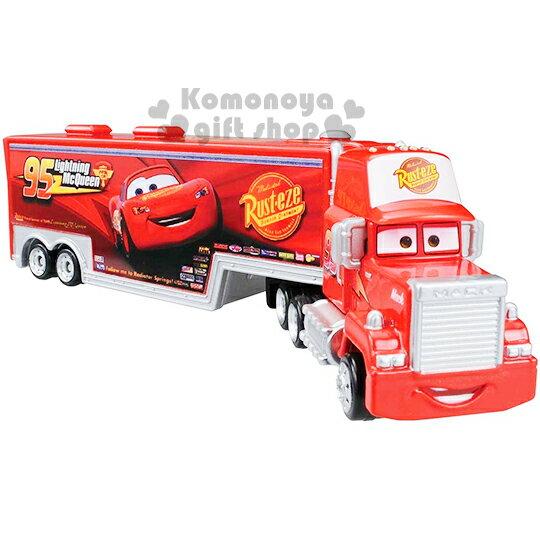 〔小禮堂〕迪士尼 CARS閃電麥坤 TOMICA合金小汽車《紅.麥大叔.豪華貨櫃車.長型》經典造型值得收藏
