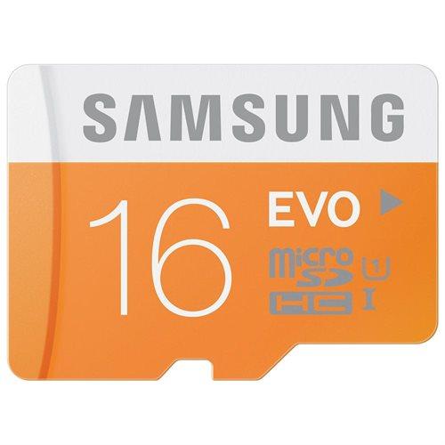 Samsung EVO 16GB microSDHC Class 10 16G microSD micro SD SDHC 48MB/s UHS-I C10 MB-MP16DA with original adapter