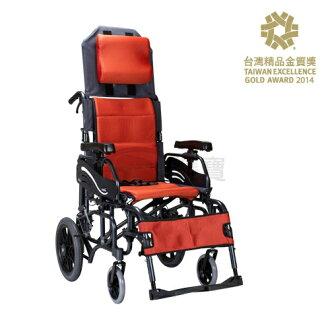【贈好禮】康揚 鋁合金輪椅 空中傾倒型 仰樂多躺式輪椅 特製輪椅 515 KM-1520.3