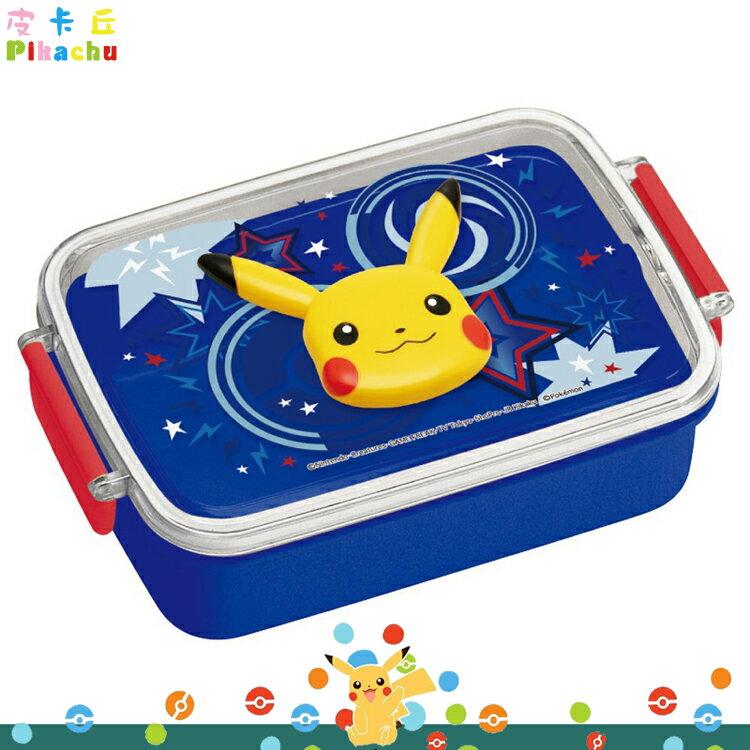 日本製 寶可夢 神奇寶貝 皮卡丘 塑膠樂扣 便當盒 飯盒 保鮮盒 野餐盒 450ml 日本進口正版 274862