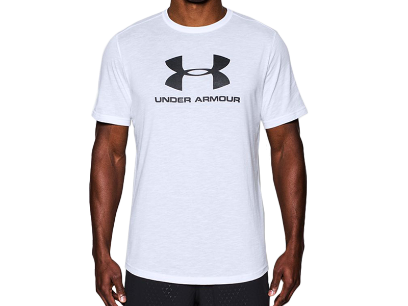 《UA出清69折》Shoestw【1294251-100】UNDER ARMOUR UA服飾 短袖 T恤 運動上衣 吸濕排汗 白色 黑大LOGO 男生