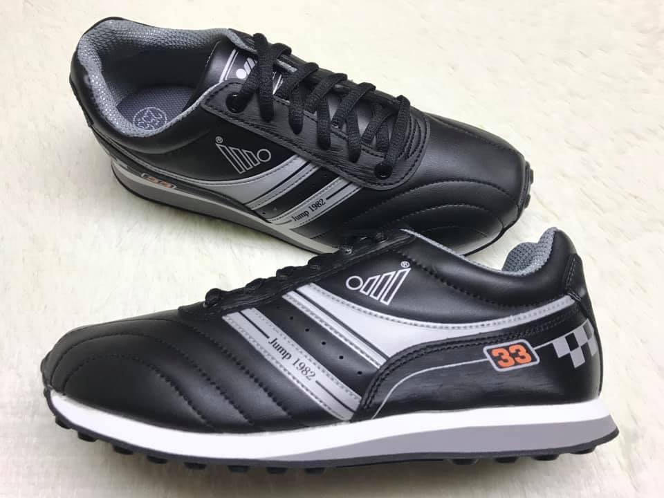 【Jolove】JUMP將門男鞋/專業彈性運動鞋123 黑銀