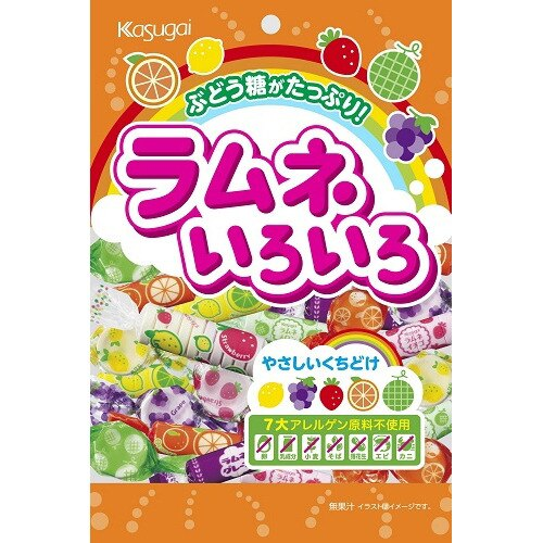 【Kasugai春日井】水果風味汽水糖 102g ラムネいろいろ 日本進口糖果 3.18-4 / 7店休 暫停出貨 1